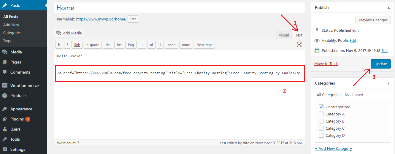 How to place a link back to our Charity Hosting page on your website