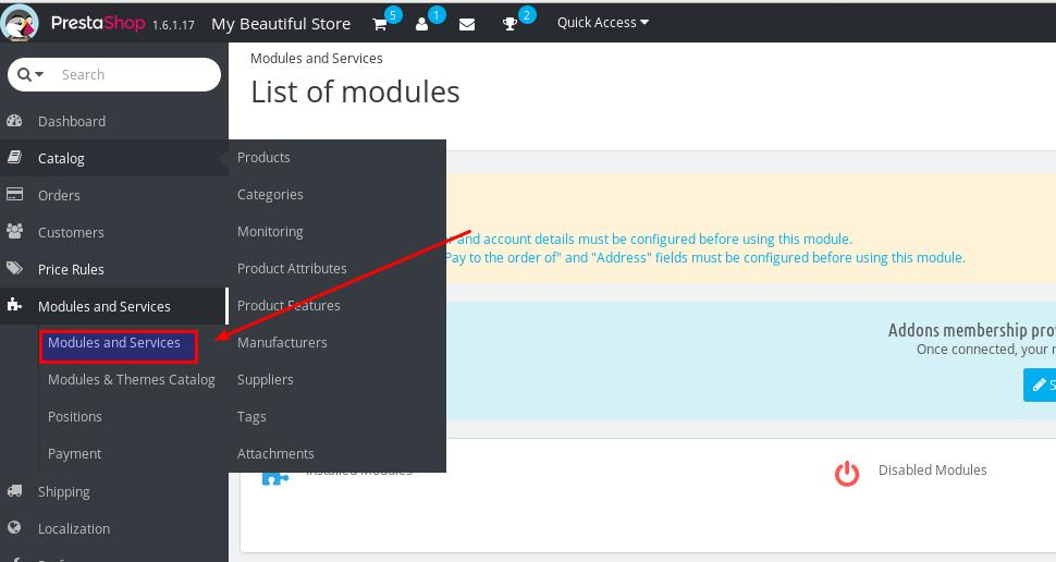 modulesandservices