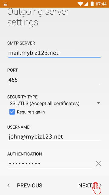 How to setup a Secure SSL/TLS IMAP email account on your Android 5