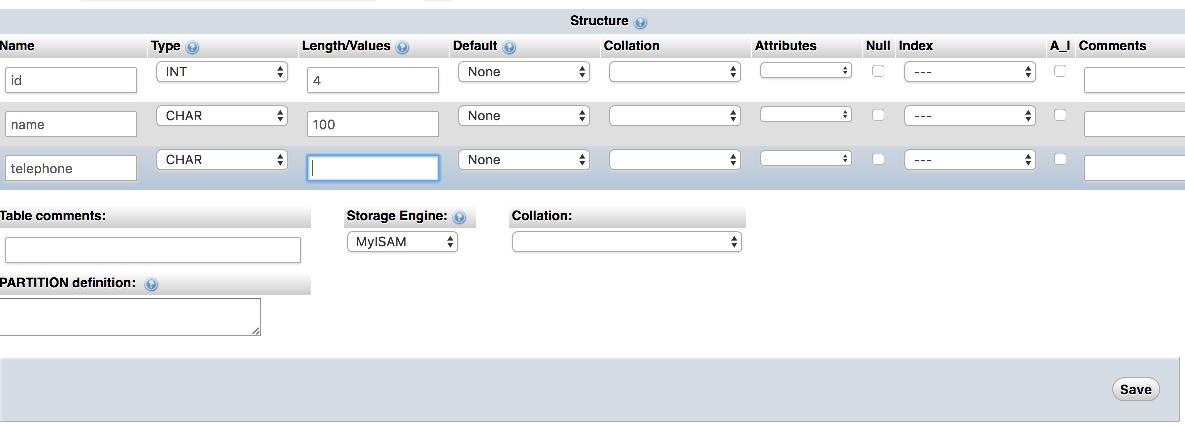 how to create phpmyadmin database
