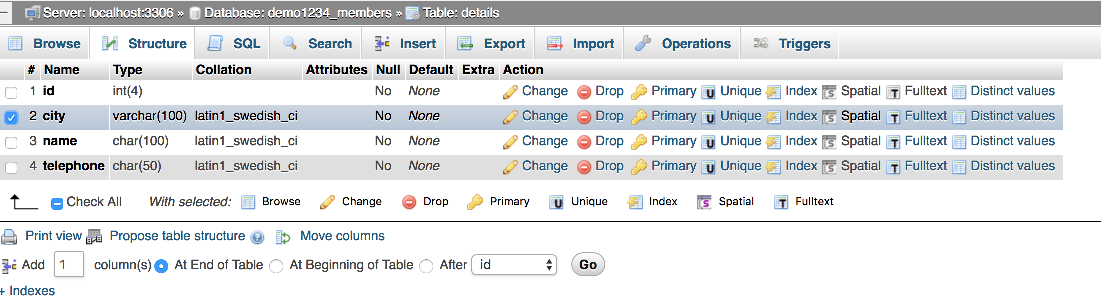 Deleting fields from database tables with phpMyAdmin - Kualo Limited