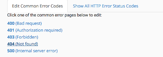 How to create custom error pages in cPanel - Kualo Limited