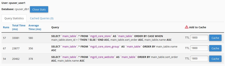 MySQL Optimize query statistics