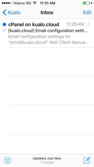 How to setup an IMAP email account on your iPhone - Kualo